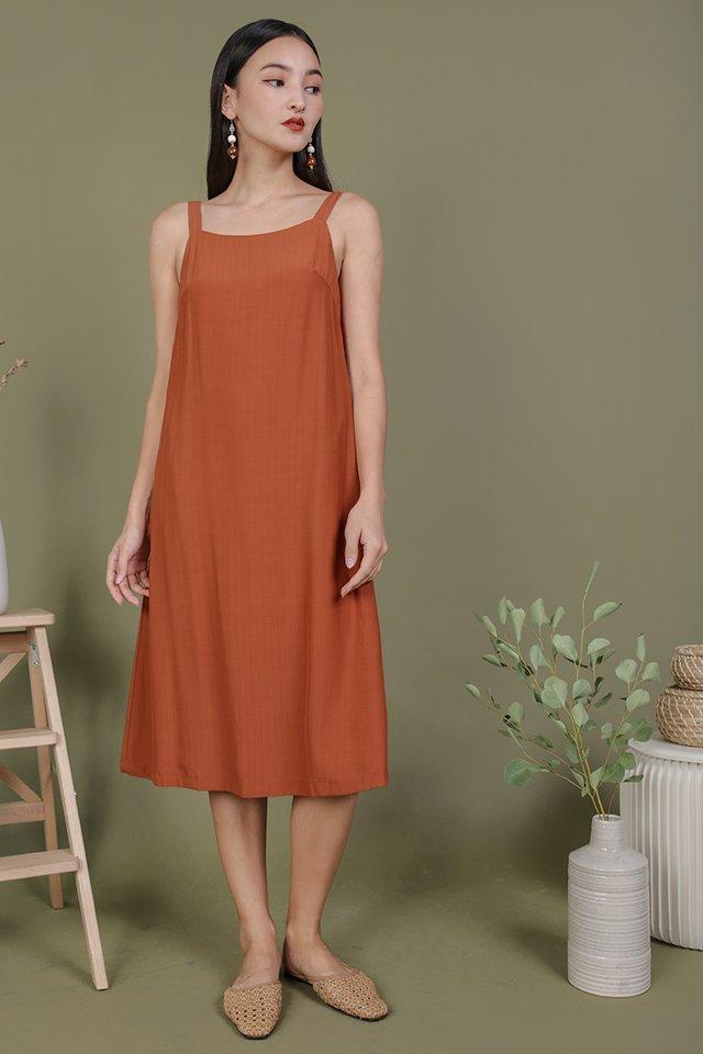Olson Slip Dress (Tangerine)