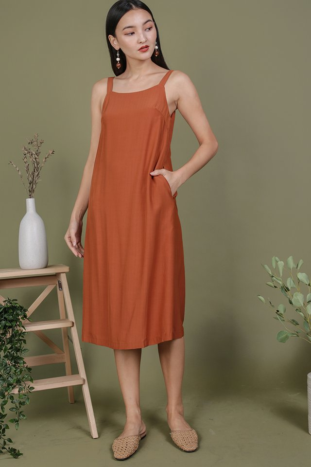 Olson Slip Dress (Tangerine)