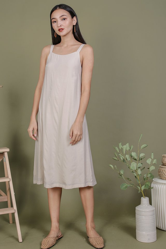 Olson Slip Dress (Cream)