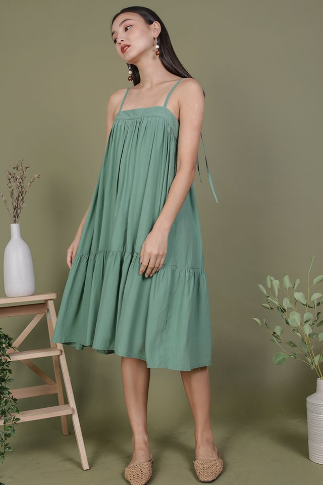 Malone Flowy Dress (Fern)