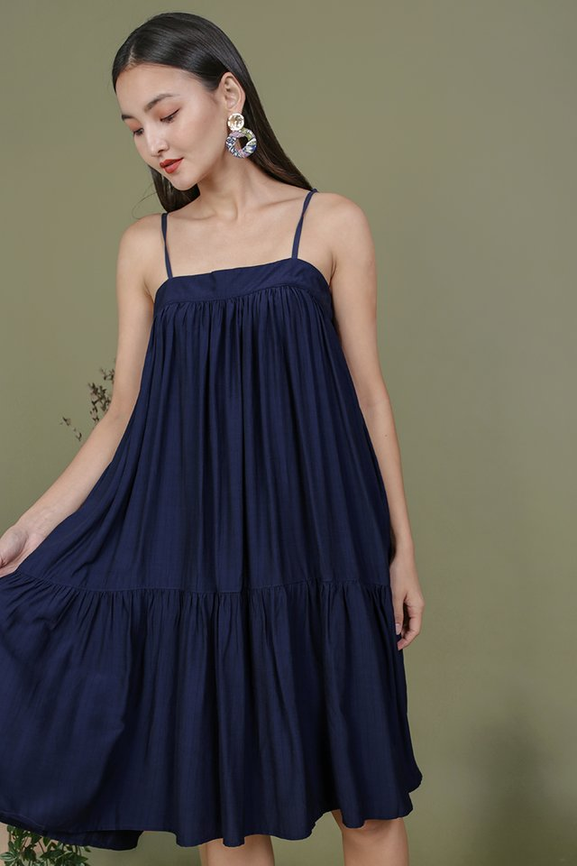 Malone Flowy Dress (Navy)