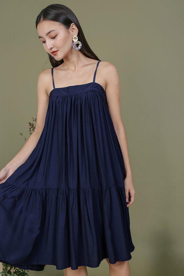 Malone Flowy Dress (Navy)