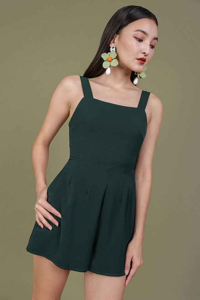 Vivienne Flare Romper (Forest Green)