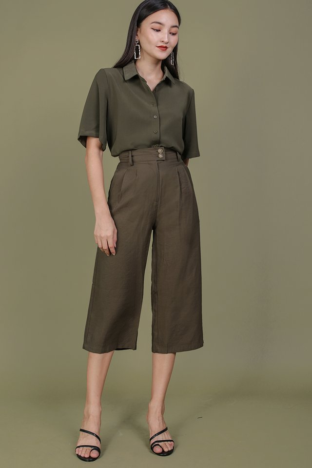 Oda Button Pants (Olive)