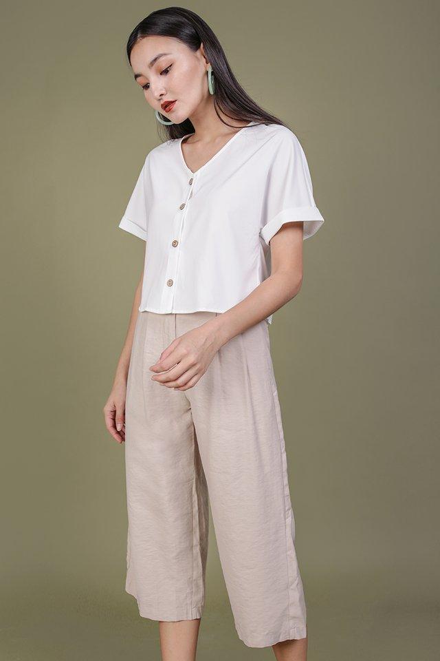 Darci Button Top (White)
