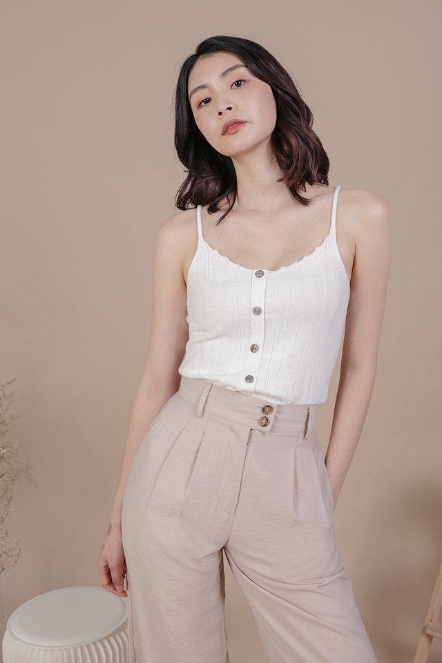 Alysia Knit Top (White)