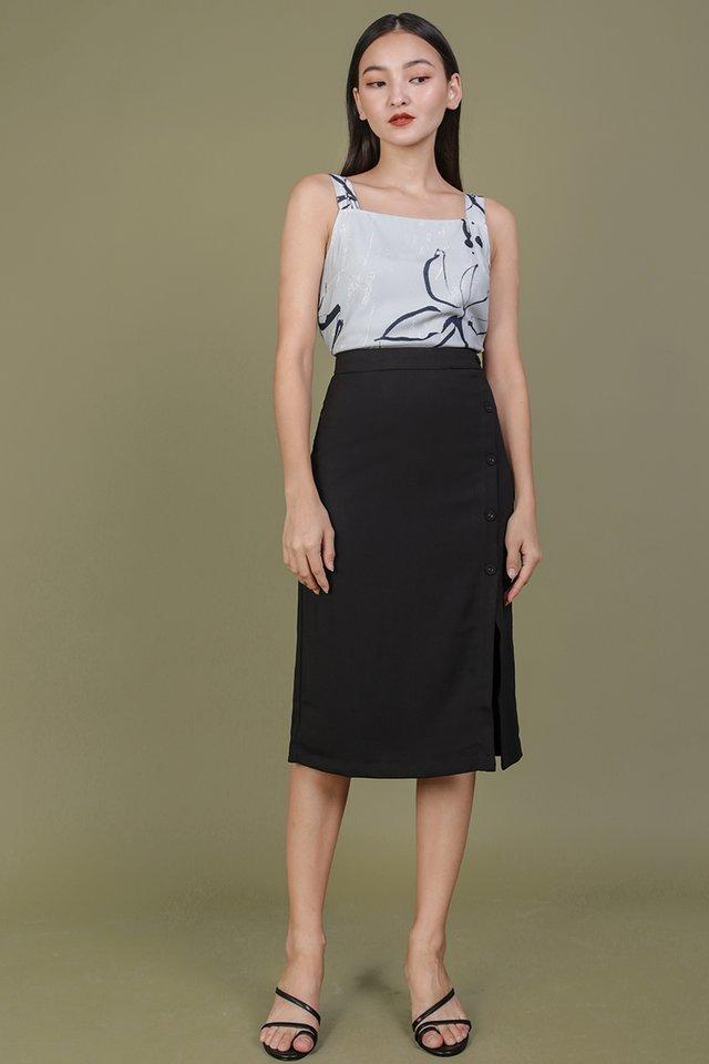 Gabriela Midi Skirt (Black)