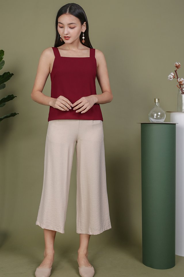 Lexa Basic Top (Maroon)