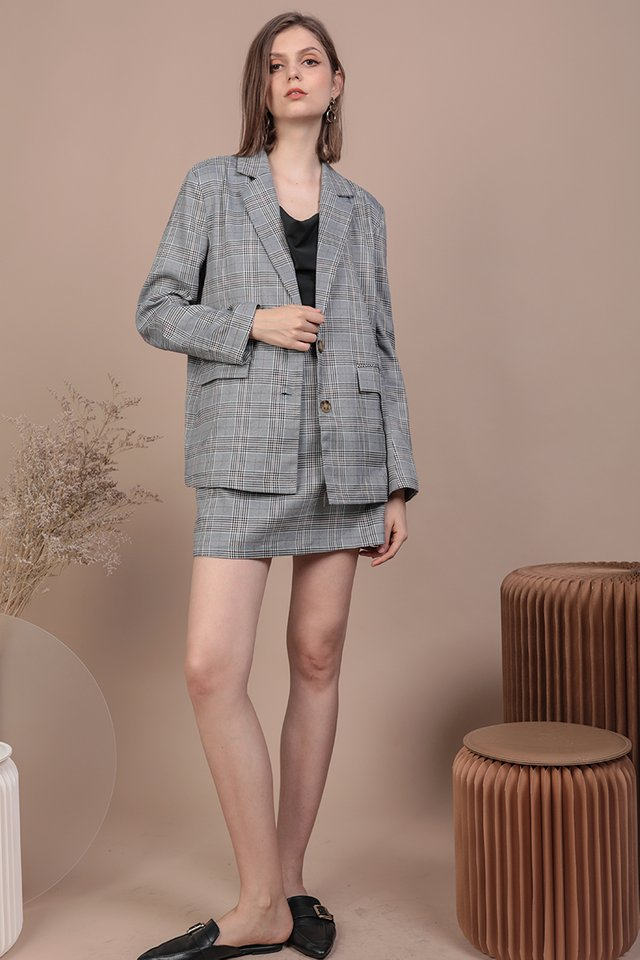 Harvey Blazer (Grey Plaids)