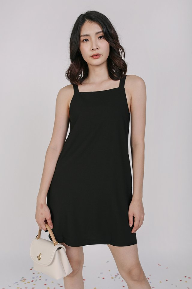 Gemma Slip Dress (Black)