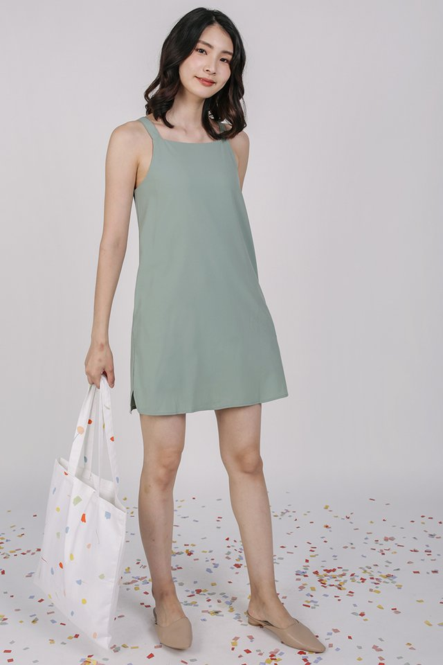 Gemma Slip Dress (Seafoam)