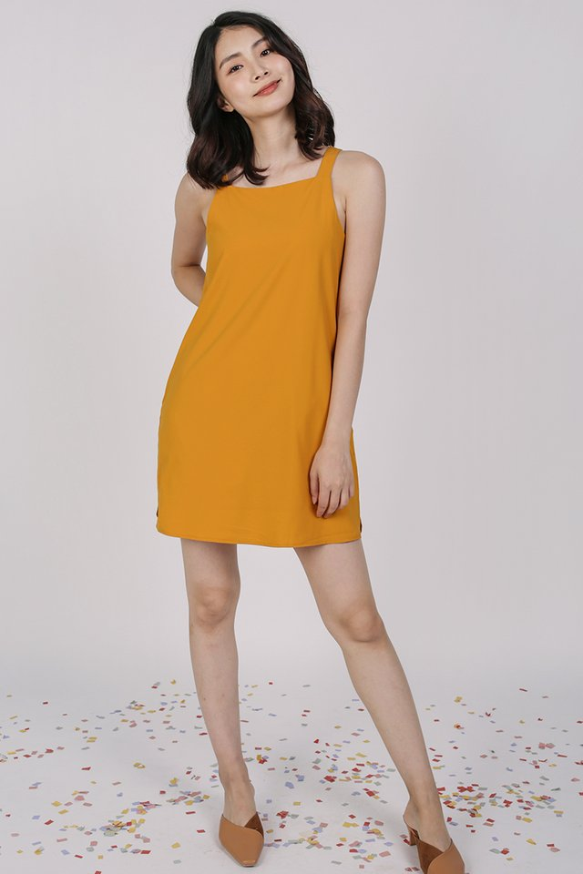 Gemma Slip Dress (Saffron)