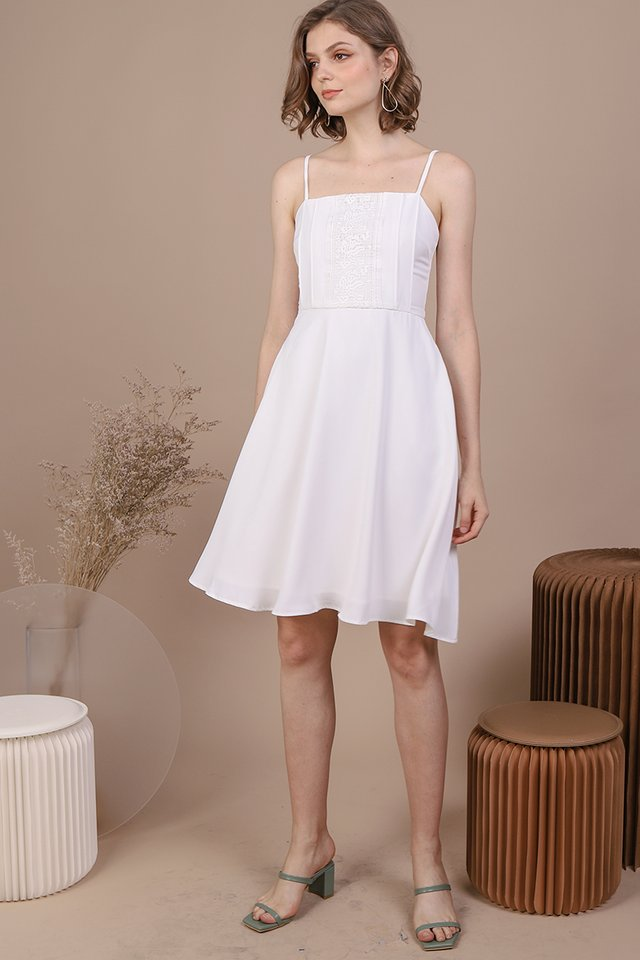 Kaye Crochet Dress (White)