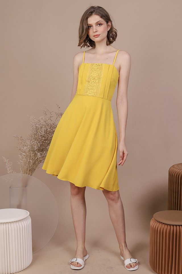 Kaye Crochet Dress (Sunshine)