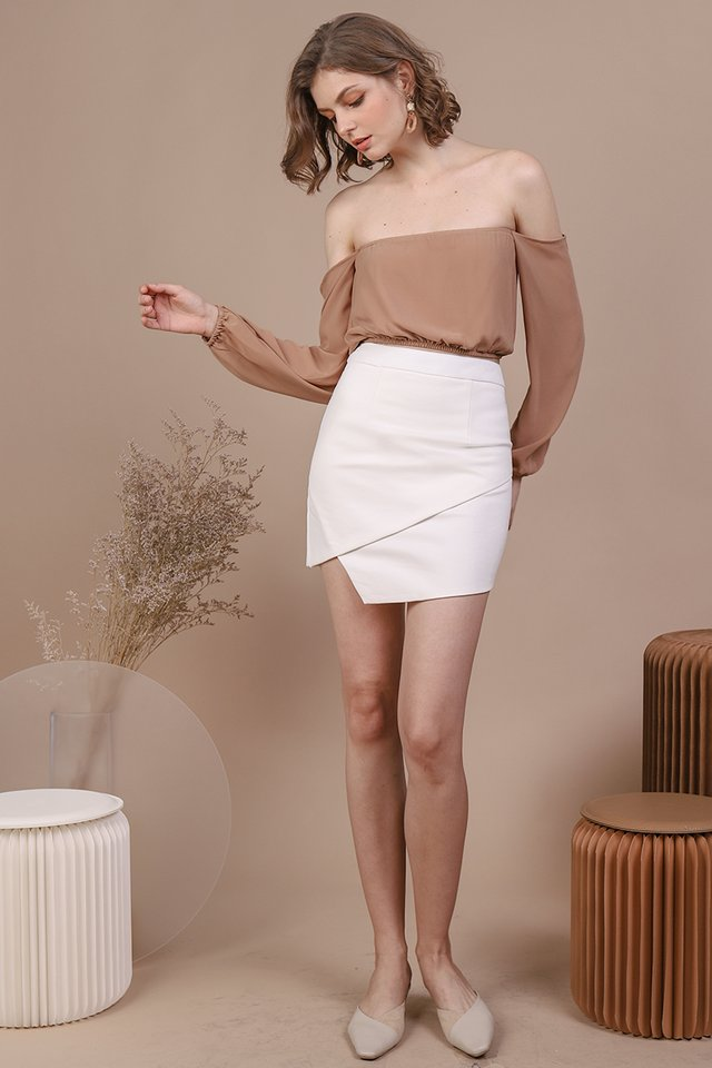 Olivia Drop Shoulder Top (Sand)