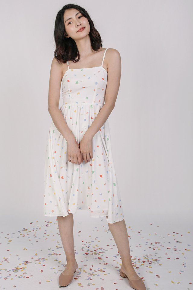 Leora Flare Dress (White Celebration)