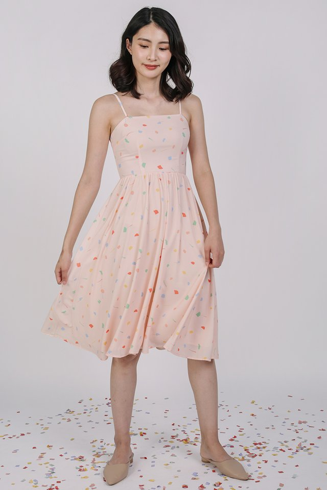 Leora Flare Dress (Pink Celebration)