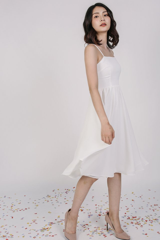 Leora Flare Dress (White)