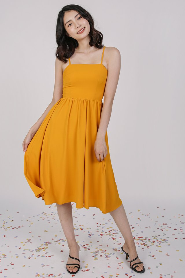 Leora Flare Dress (Saffron)