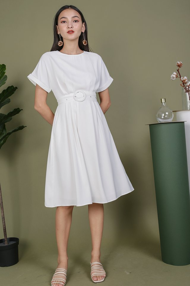 Loretta Midi Dress (White)