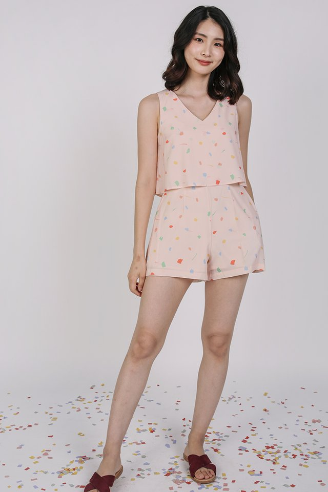 Sora Tiered Romper (Pink Celebration)