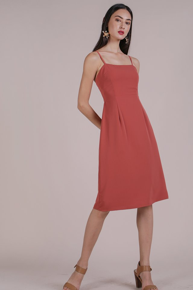 Juna Strappy Dress (Rose)