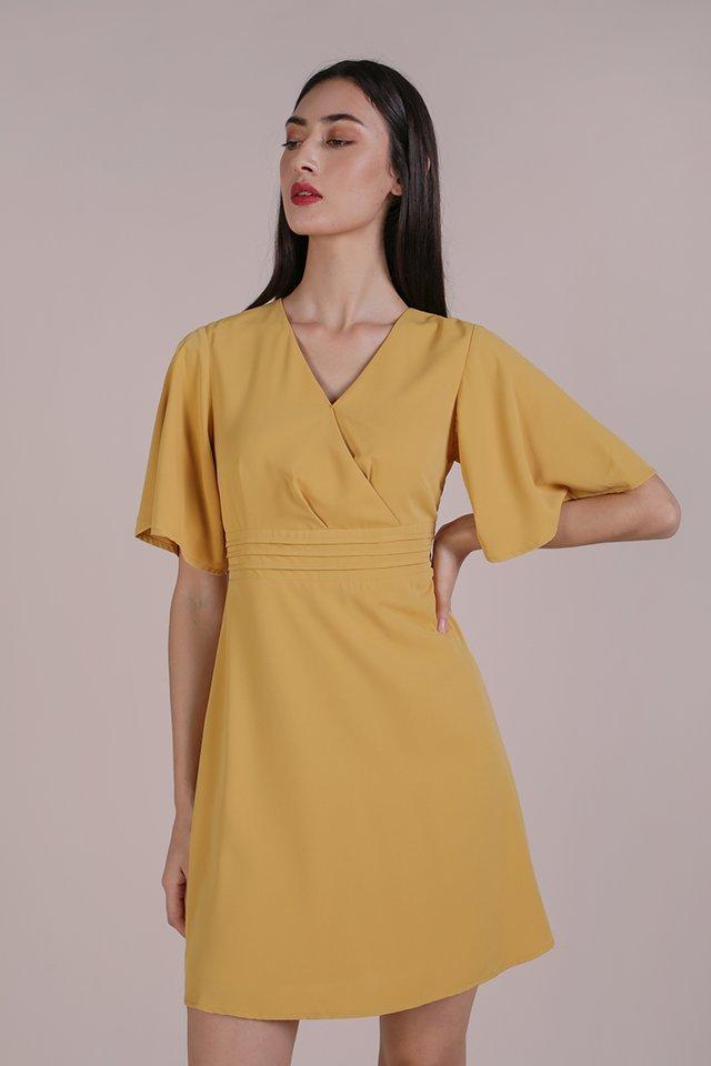 Lesley Flare Dress (Yellow)