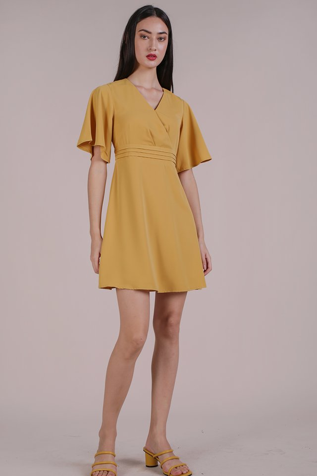 Lesley Flare Dress (Yellow)