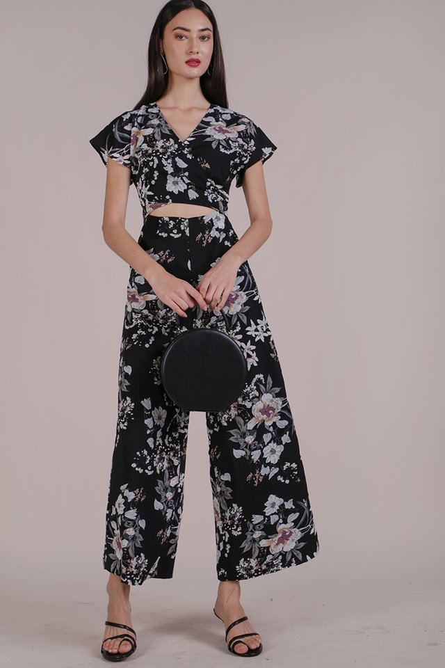 Marcia Jumpsuit (Black Bouquet)