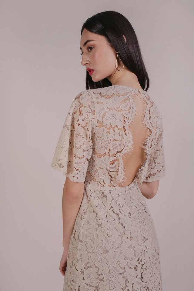 Vienna Lace Dress (Nude)