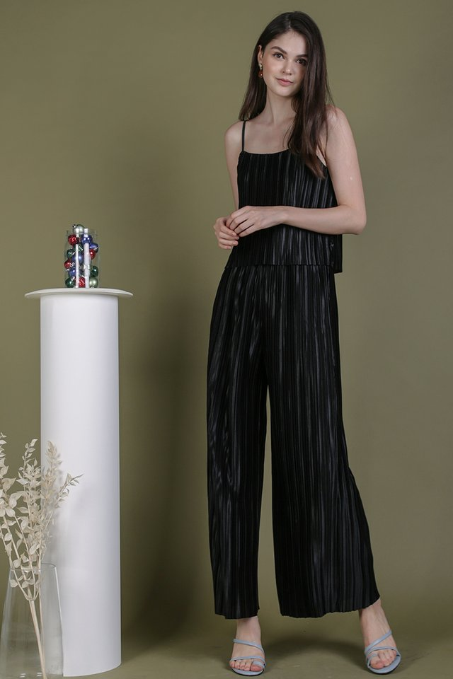 Jill Pleated Pants (Black)