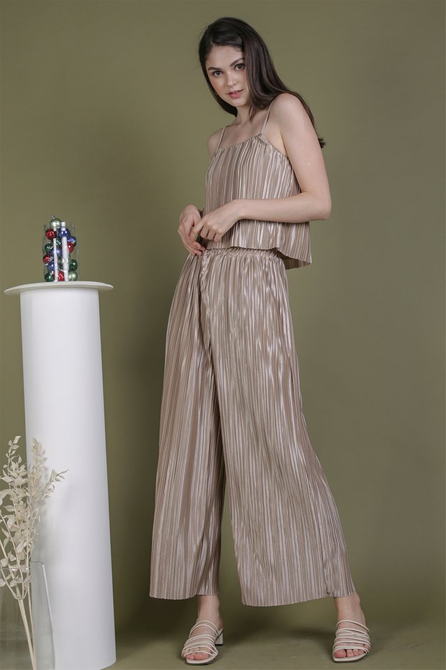 Jill Pleated Pants (Champagne)
