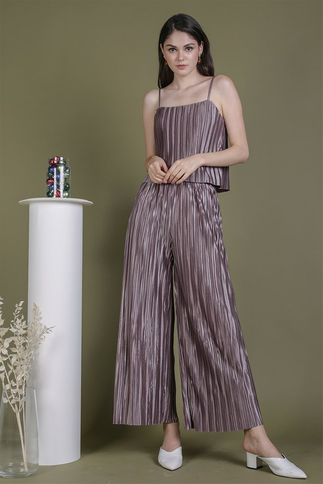 Jill Pleated Pants (Mauve Lilac)