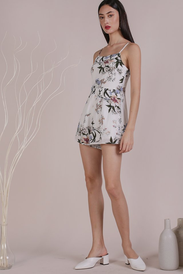 Luci Romper (White Bouquet)