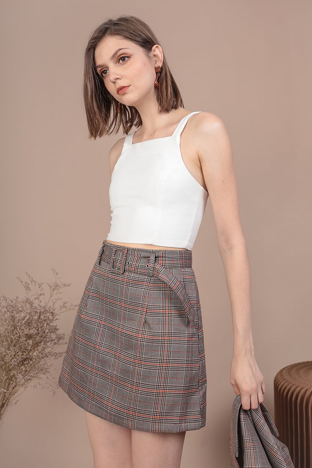 Mitchel Buckle Skirt (Vintage Plaids)