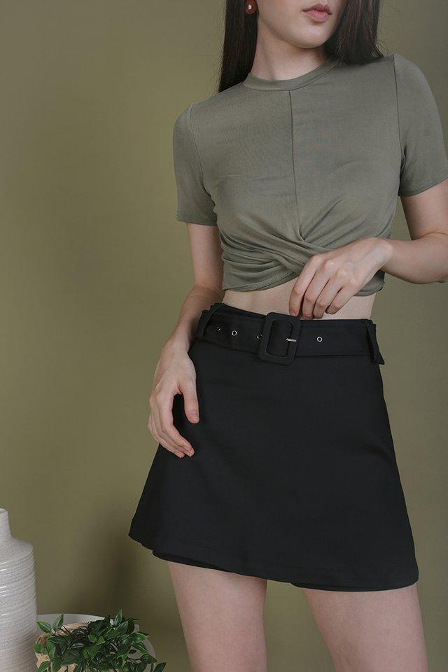 Lenny Belted Skorts (Black)