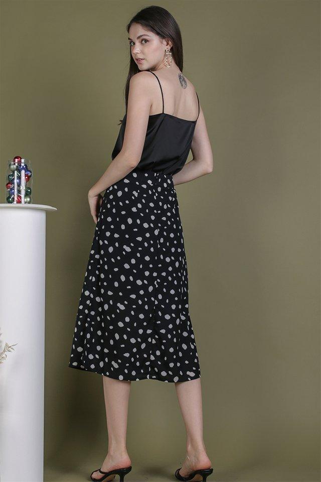 Issa Skirt (Black Abstract)