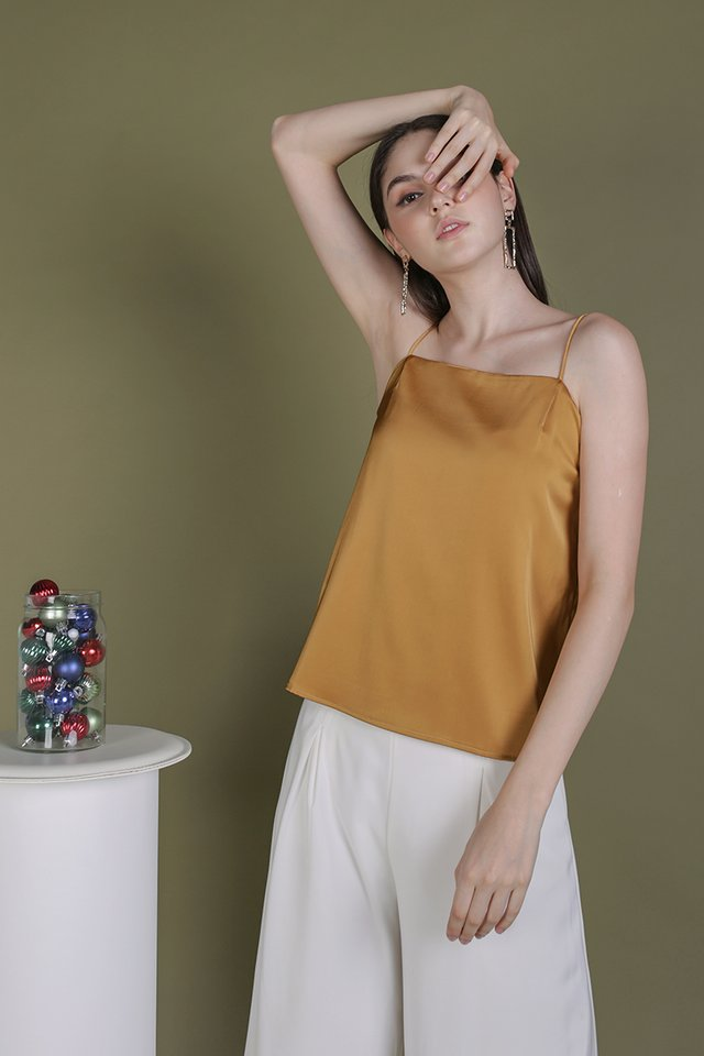 Suggy Satin Top (Gold)