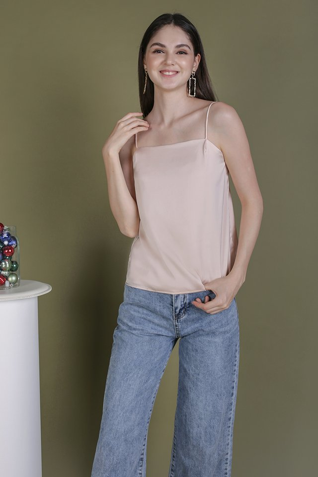 Suggy Satin Top (Blush Pink)
