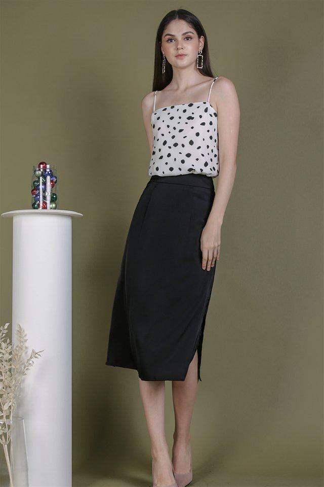 Issa Satin Skirt (Black)