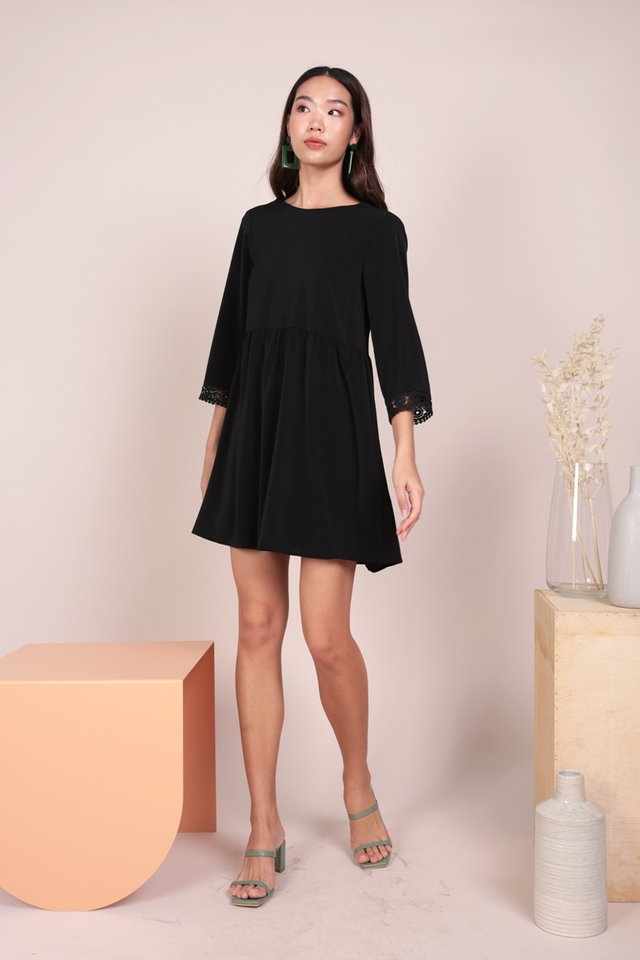 Chantel Crochet Dress (Black)