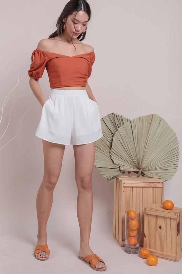 Ace Off Shoulder Top (Tangerine)