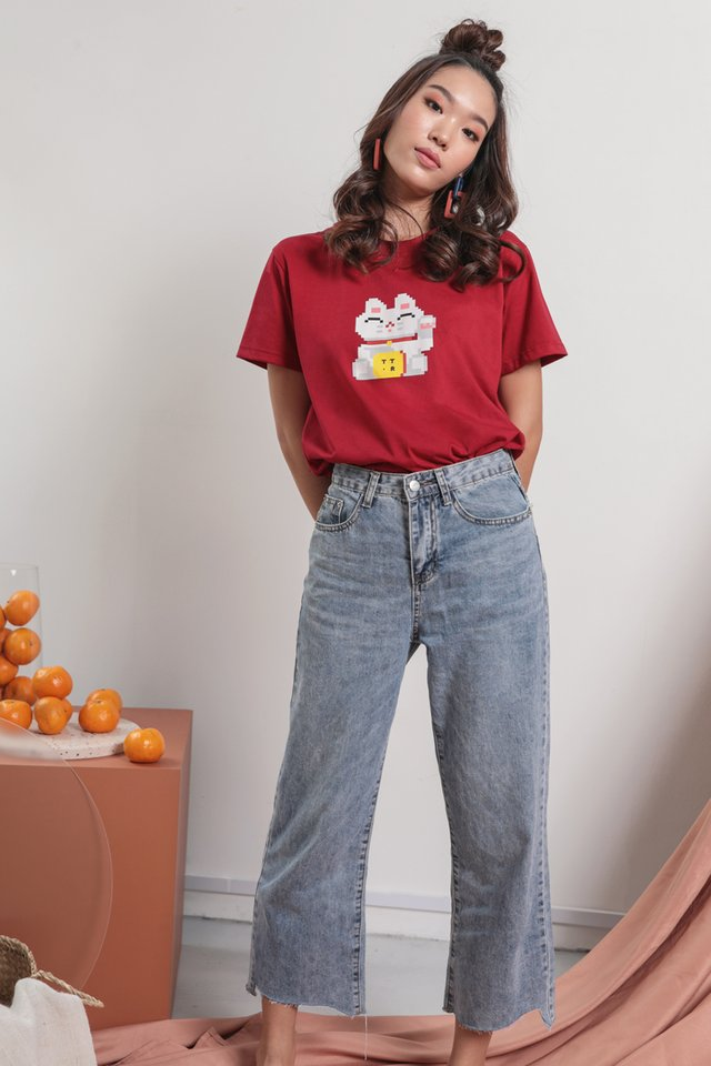 Online Exclusive- Fortune Cat Tee