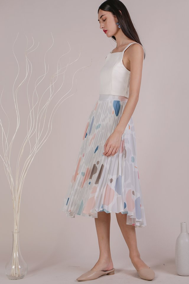 Courtney Pleated Skirt (Rock Candy)