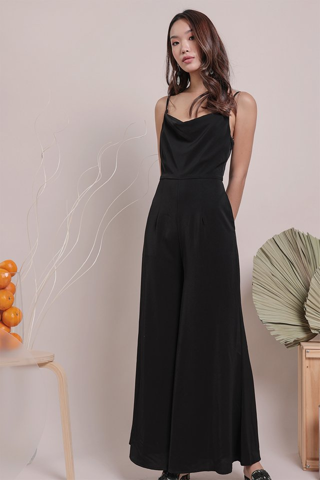 Jayce Cowl Neck Jumpsuit (Black)
