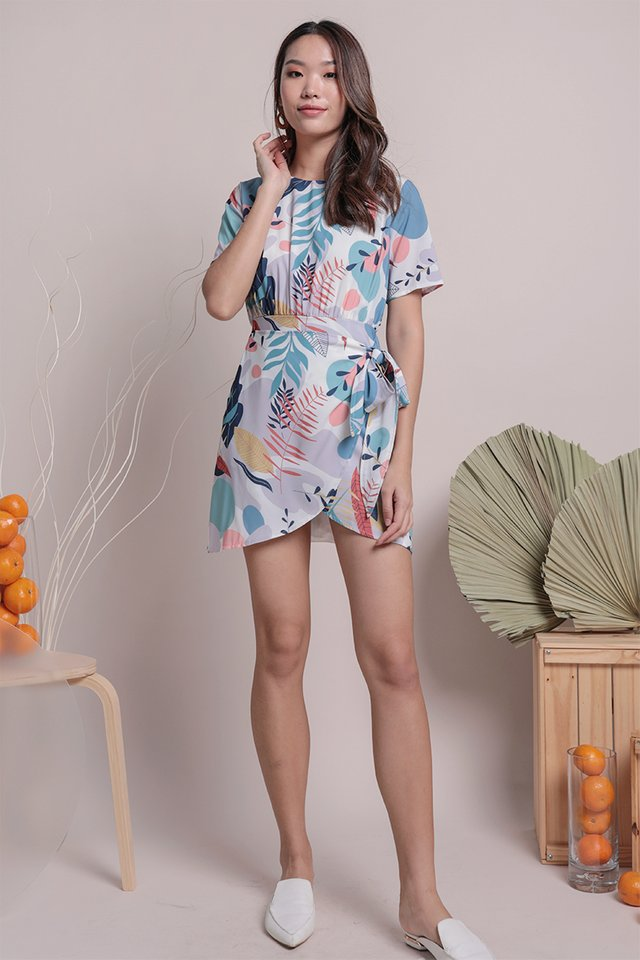 Dayna Wrap Front Romper (Tropical)