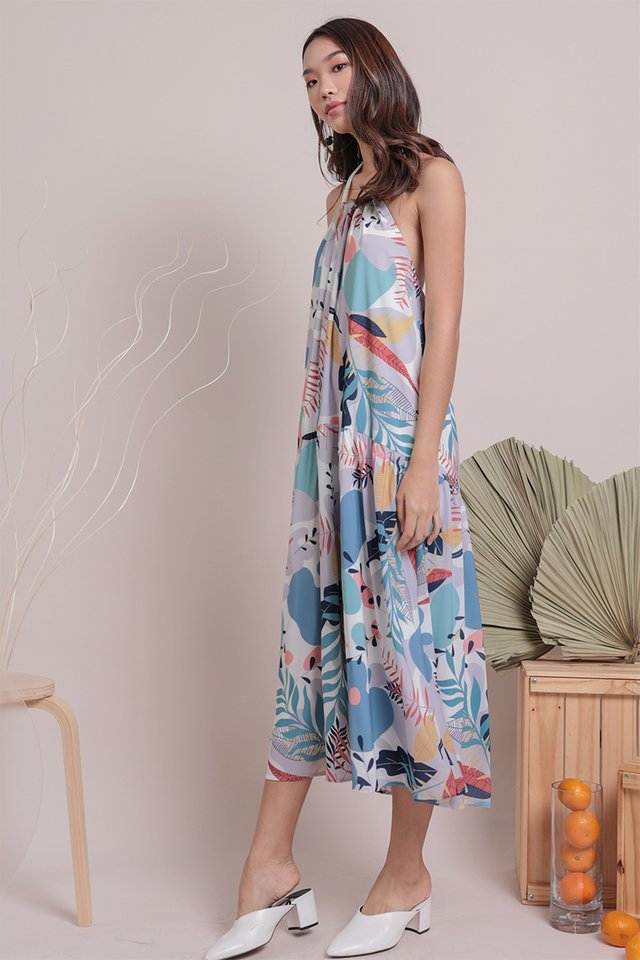 Online Exclusive- Loki Halter Dress (Tropical)