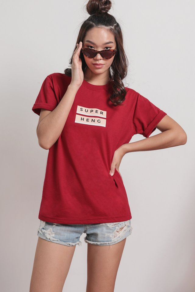 Online Exclusive- Super Heng Tee (Maroon)