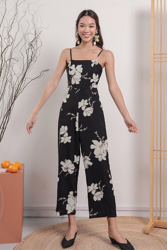 Adelia Jumpsuit (Black Florals)