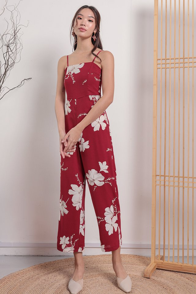 Adelia Jumpsuit (Red Florals)